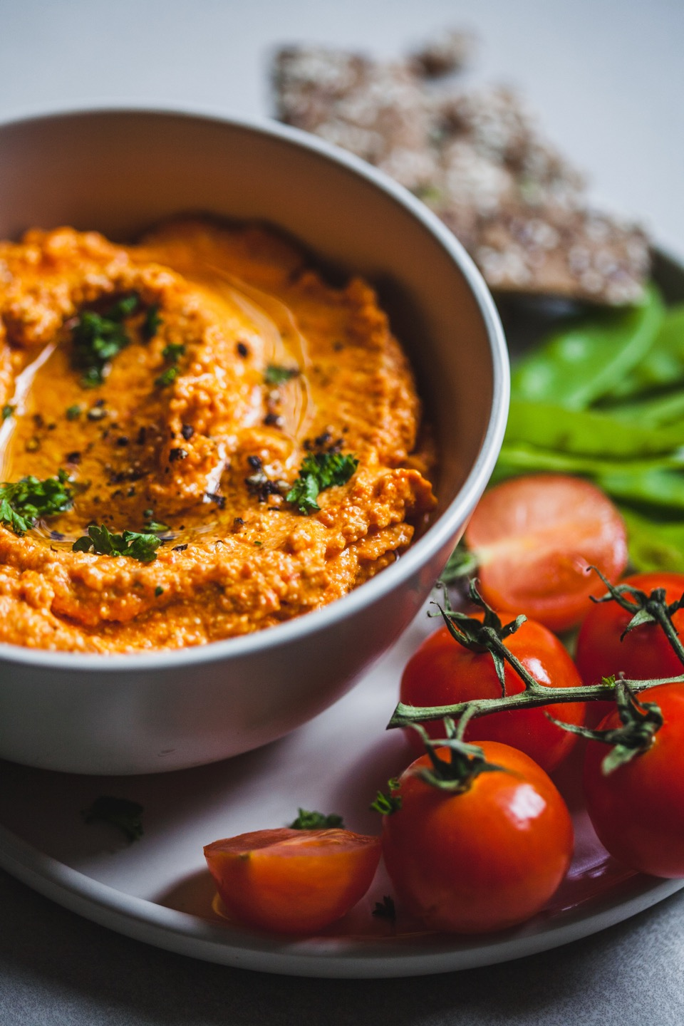 Roasted Red Pepper And Feta Dip