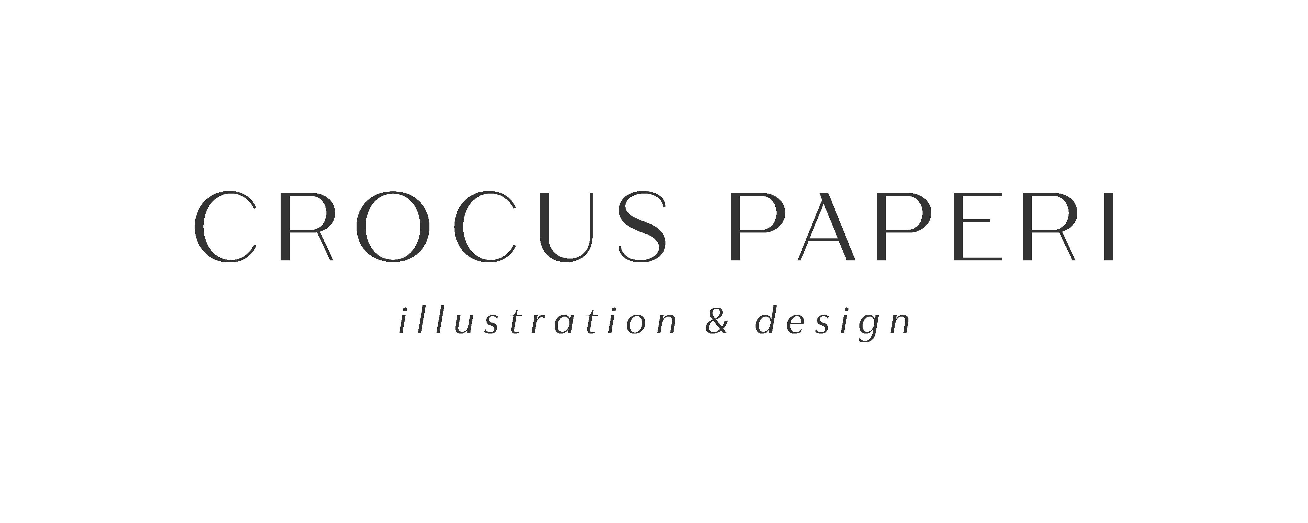 Crocus Paperi | Illustrations, graphic design, branding logo