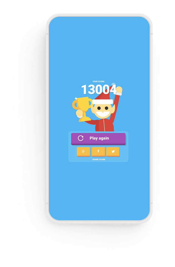 Google Santa Tracker on a phone