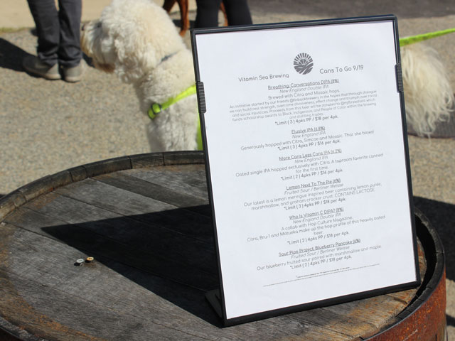 Vitamin Sea Brewing's Craft Beer Menu
