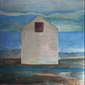 "Bruno Kadak, Estonia. ""Tree Views 1-3"" 2008. Canvas, mixed, 45x45"