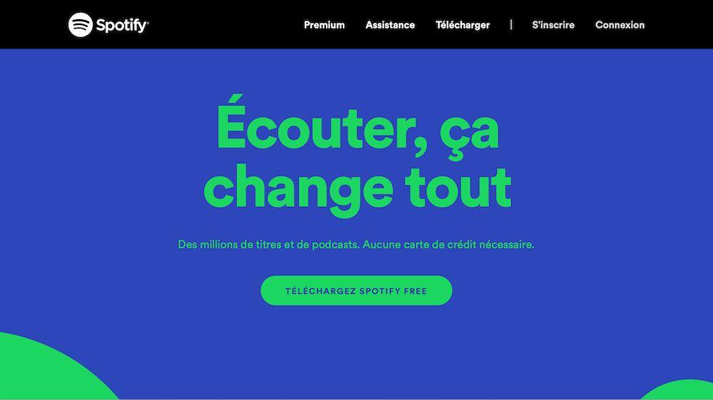 homepage spotify