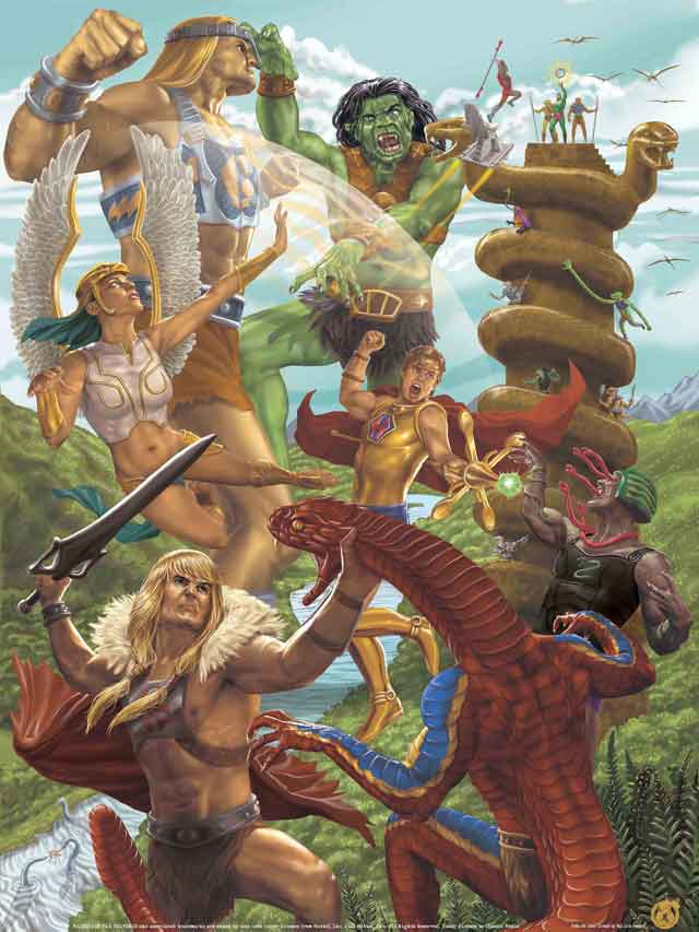 Masters of the Universe Ancients Poster for Mad Duck Posters / Mattel