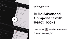 Build Advanced Component with React Hooks