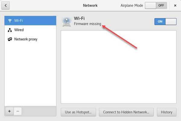 missing wifi firmware debian