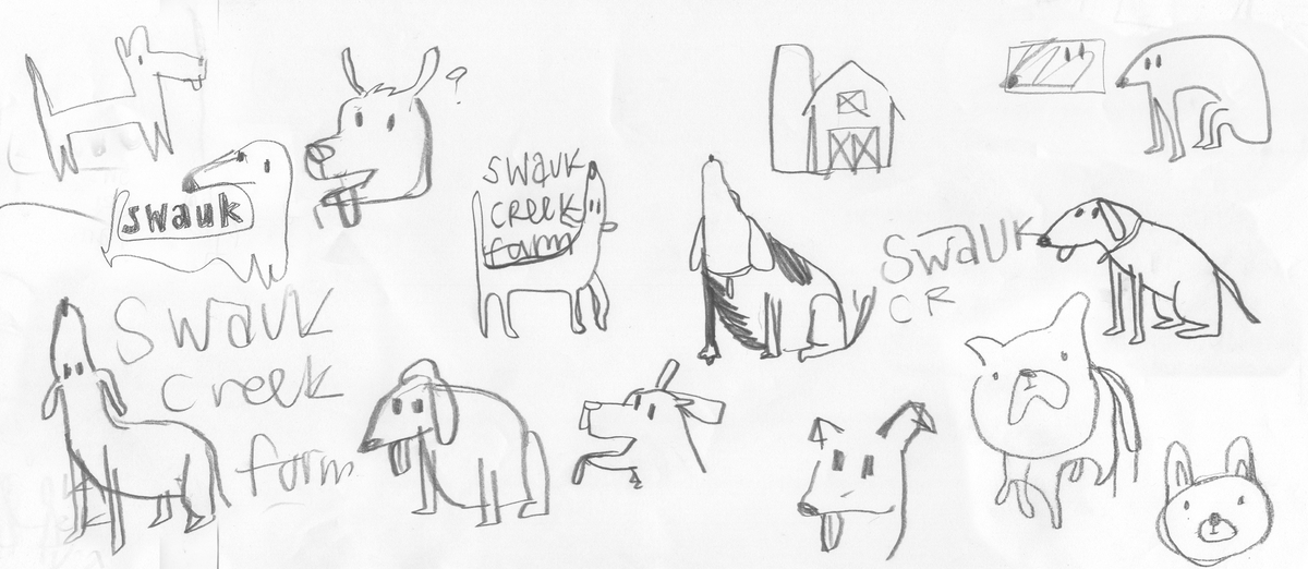 Step one: draw a bunch of dogs.