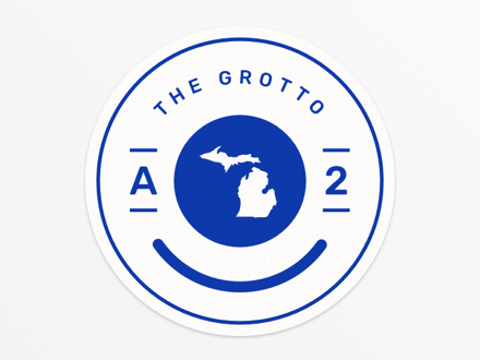 The Grotto Happy Michigan Sticker
