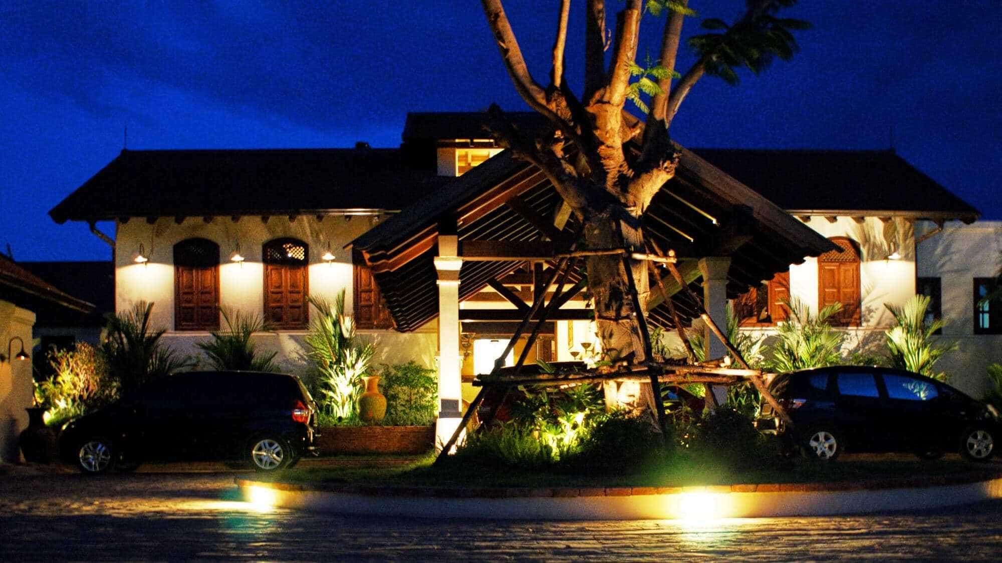 Phuket Villa, nightime lighting