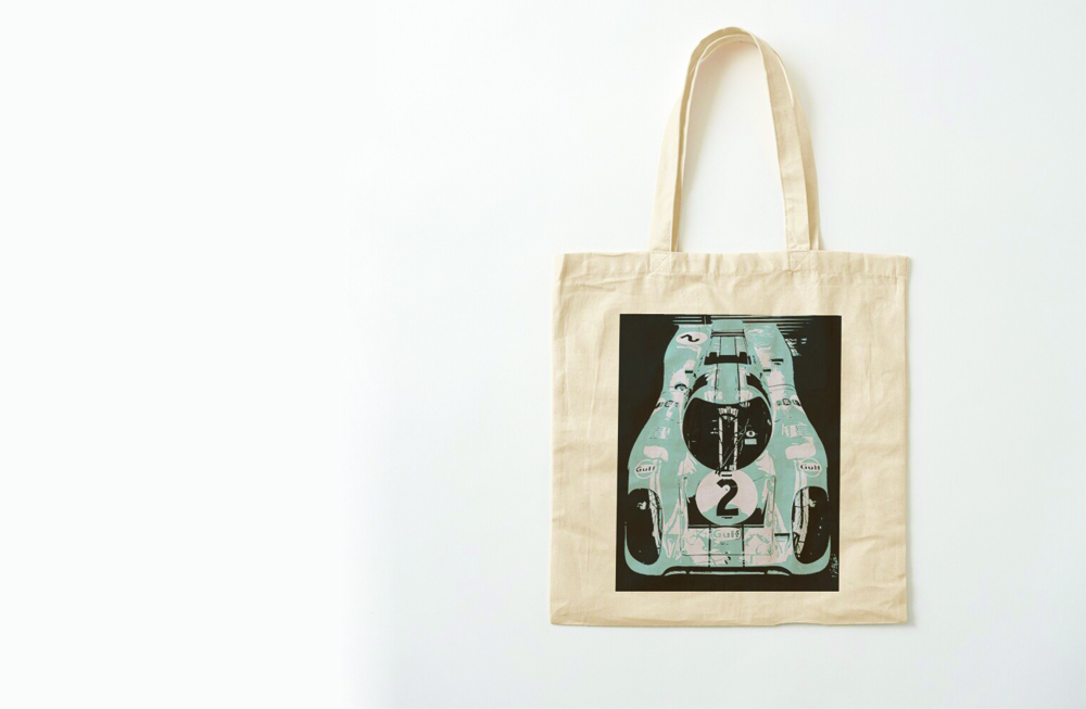 Porsche 917K Cotton Tote Bag by thespeedart