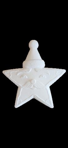 Unpainted Gingerbread Santa Star photo