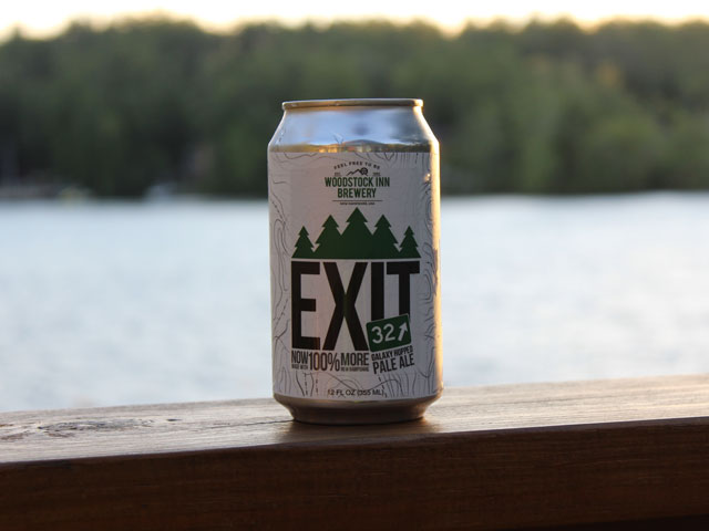 Exit 32, an IPA brewed by Woodstock Inn Brewery