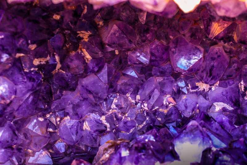 Violet gemstones