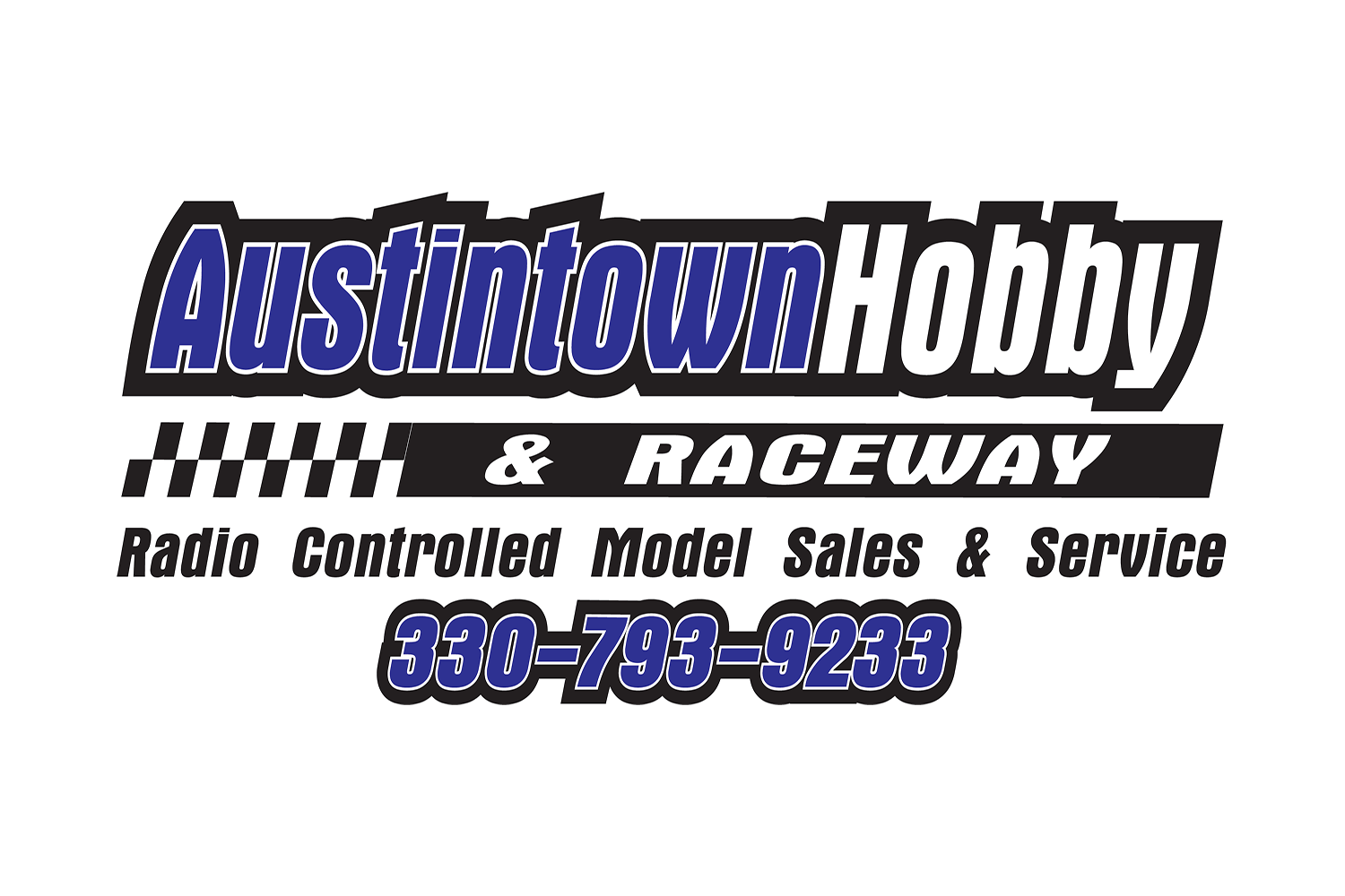 The official logo of Austintown Hobby and Raceway of Austintown, Ohio.