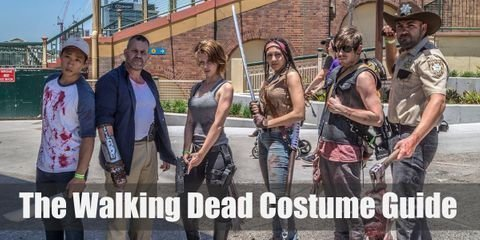 Dress like characters from The Walking Dead for your Halloween or Costume Party