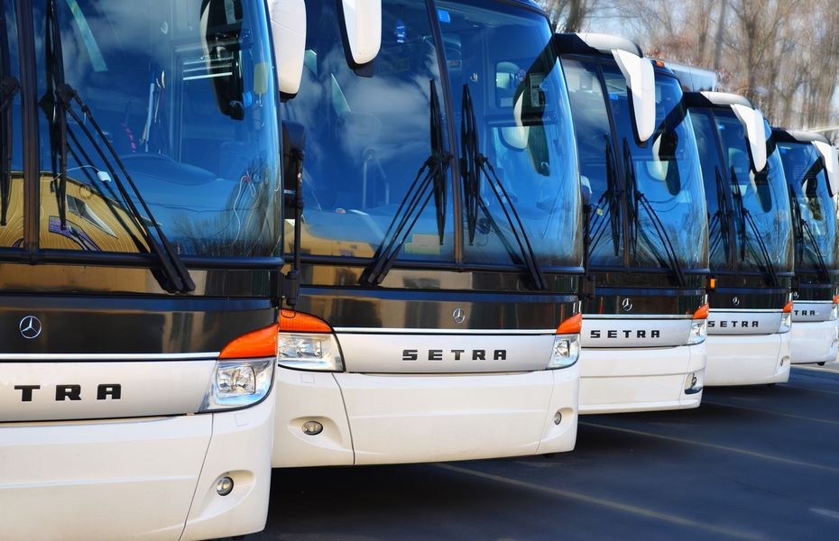 Airport transfer buses