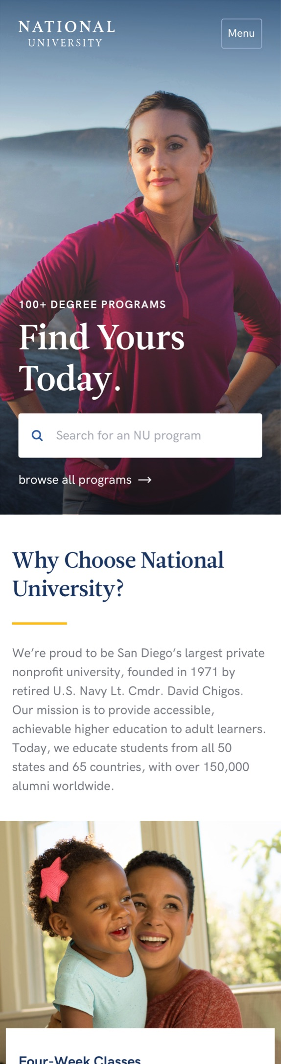 National University mobile screenshot