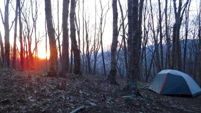 Sunset on Bly Gap