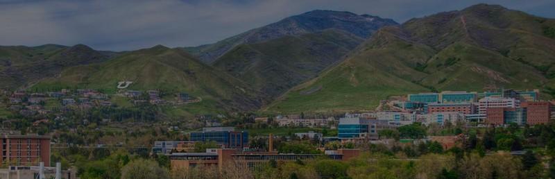 Arial view of the University of Utah campus