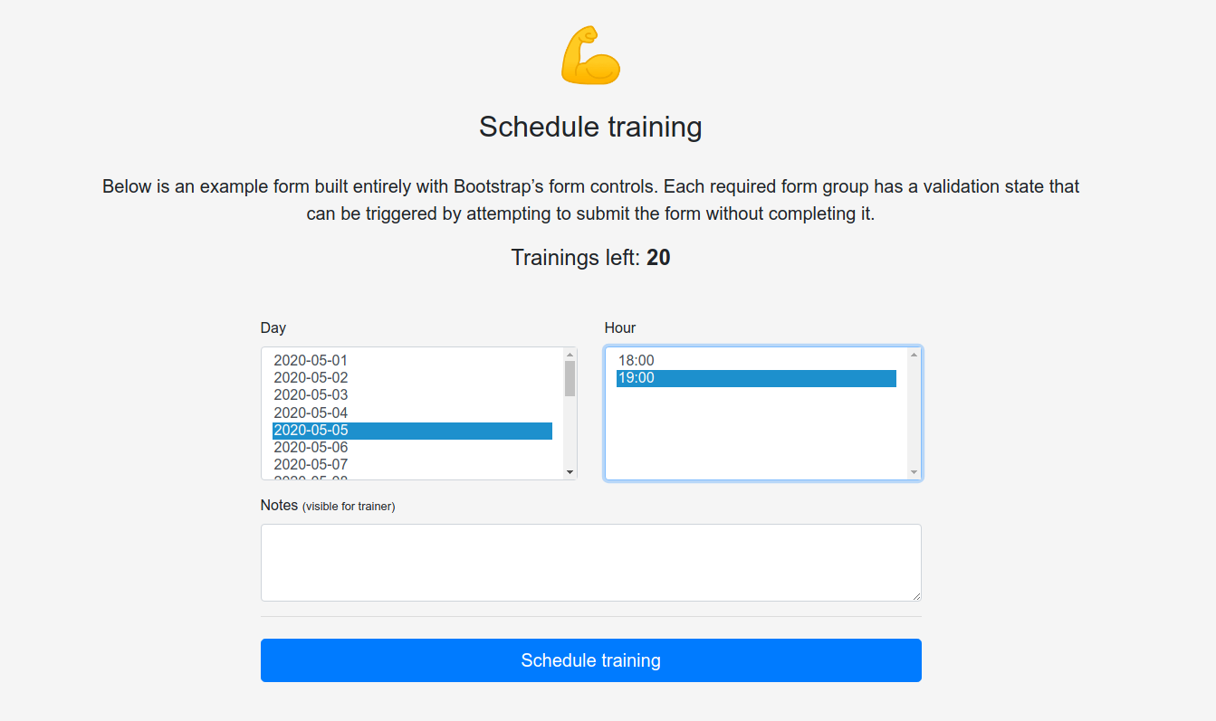 Schedule training
