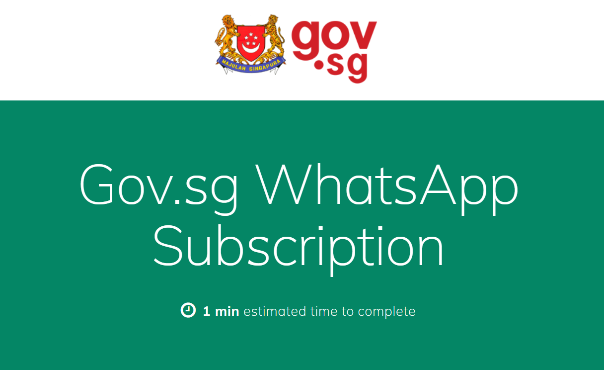 Gov.sg WhatsApp sign up page
