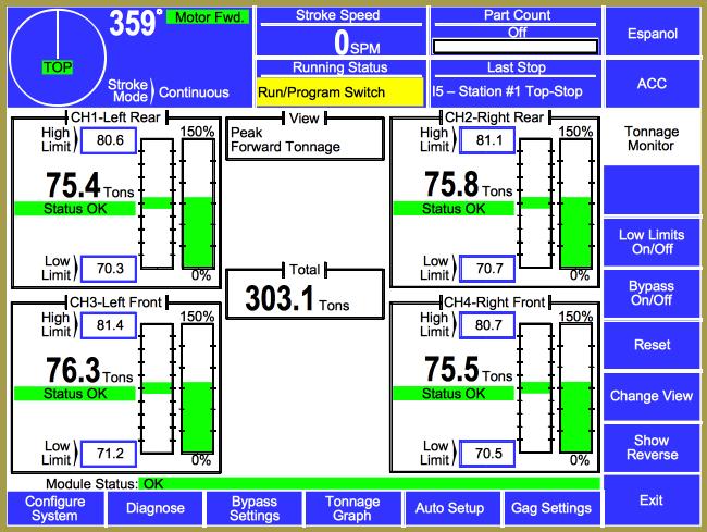 5100-8 Tonnage and Analog Signal Monitor Module photo