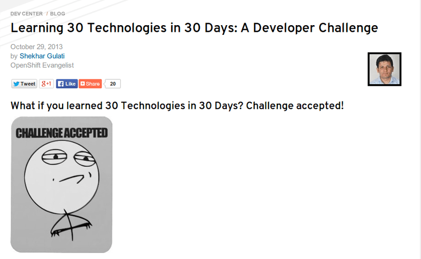 Learning 30 Technologies in 30 Days: A Developer Challenge
