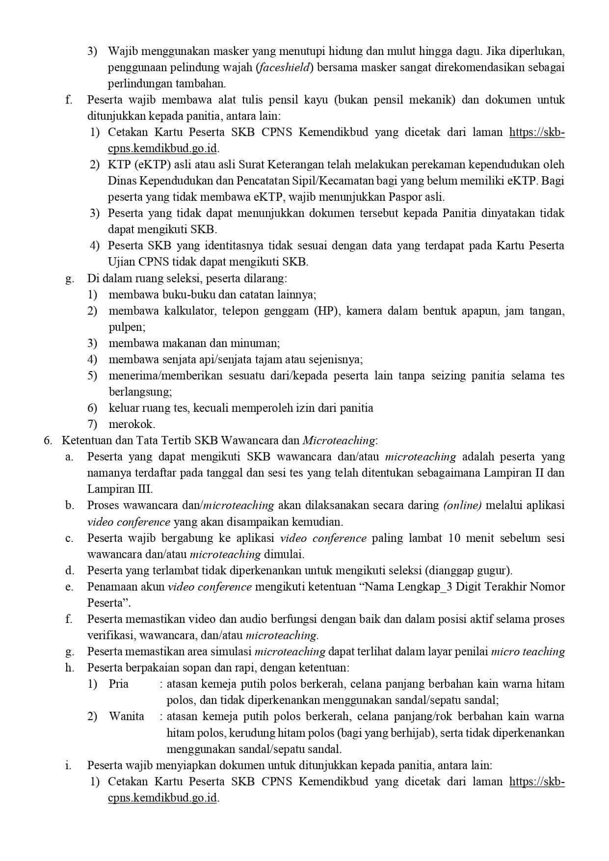 Daftar Peserta dan Jadwal SKB CPNS Kemendikbud Tahun 2020 2