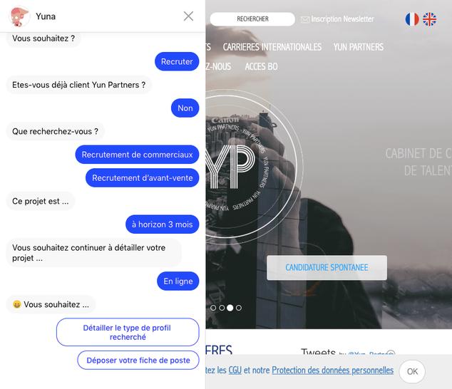 chatbot yun recruiter choice