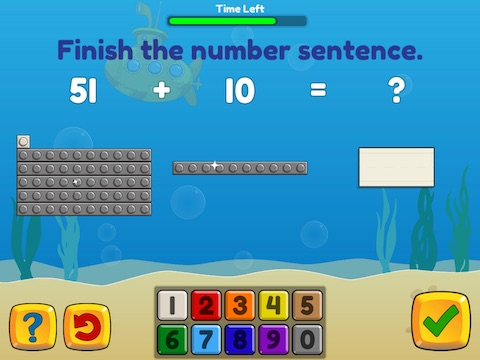Add and subtract fluently within 100 using brix Math Game