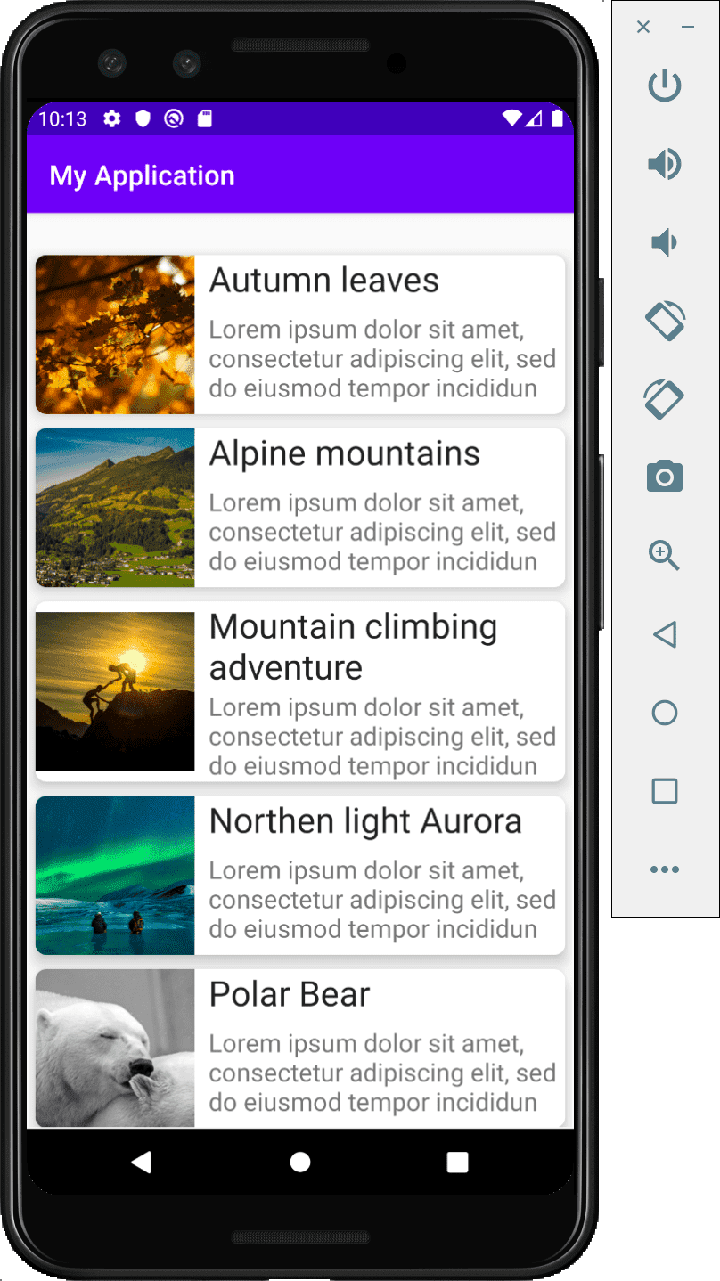 Android recyclerview load image