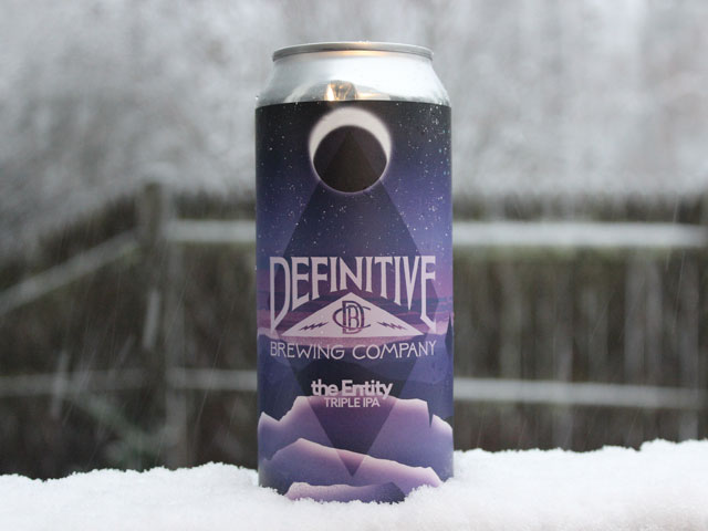 the Entity, a Triple IPA brewed by Definitive Brewing Company