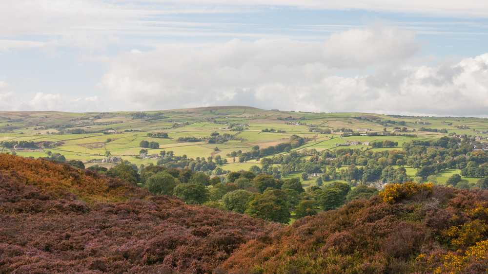 Norland Moor Looking Across The Valley