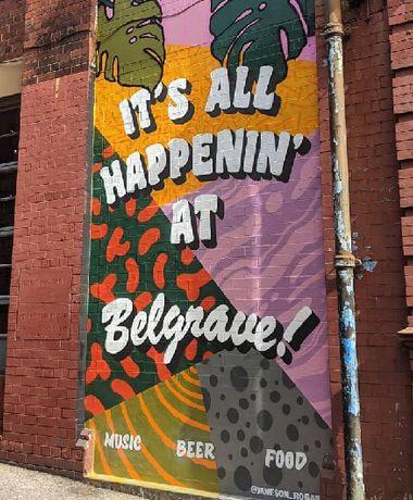 Sign outside Belgrave