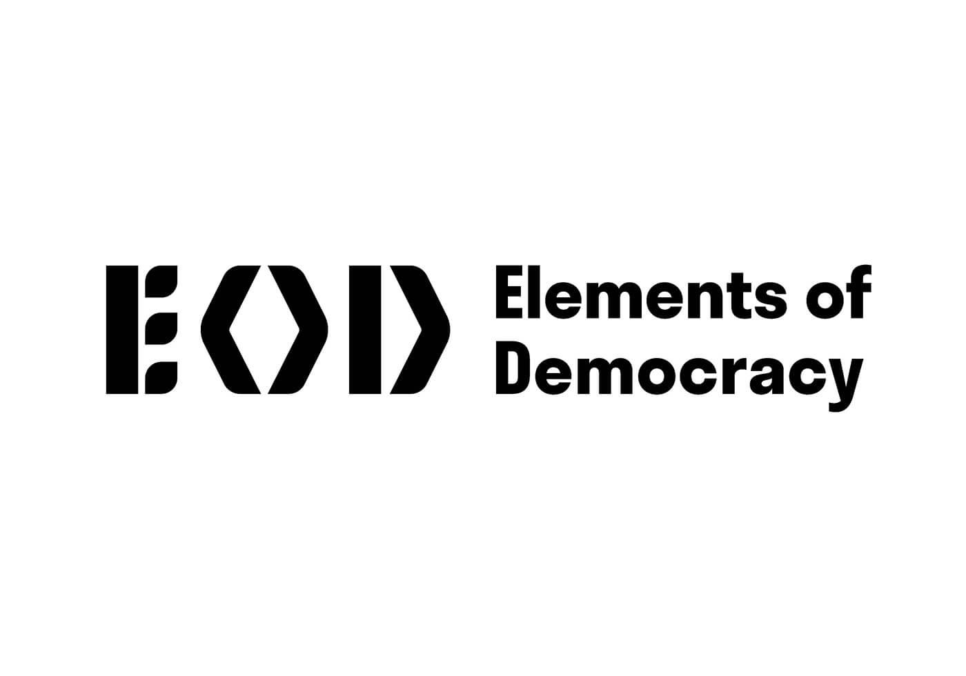 Logo mit Schriftzug von Elements of Democracy