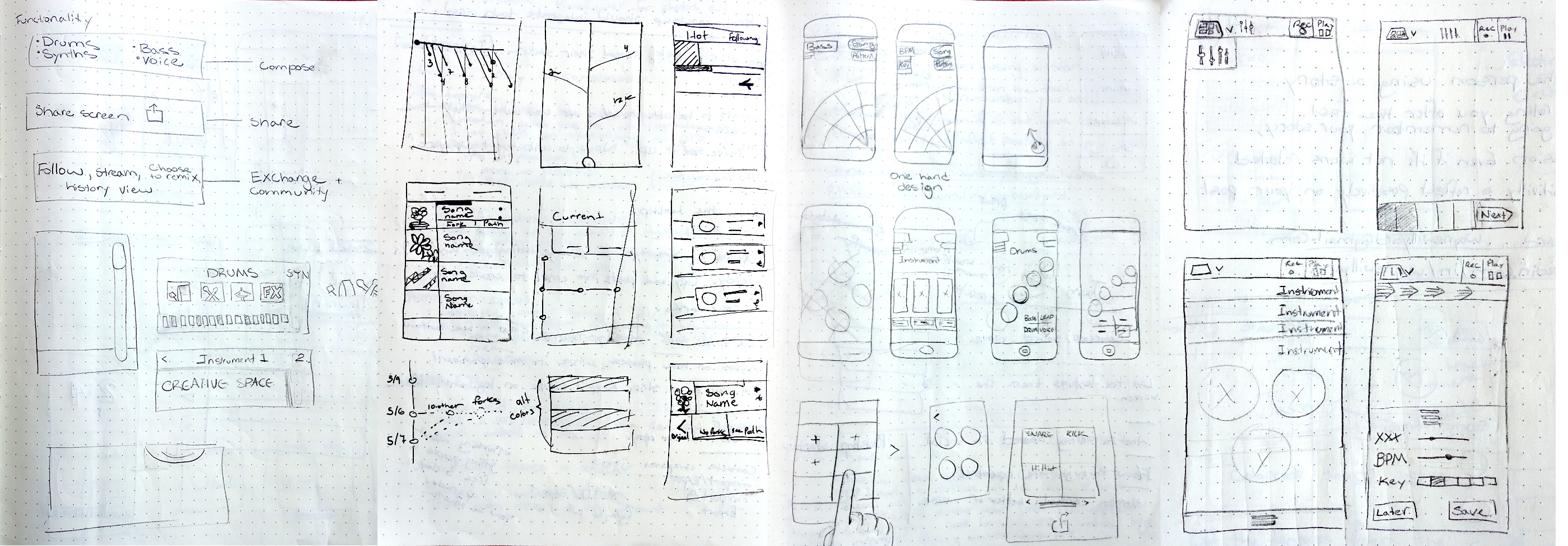 Wireframing Sketches