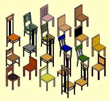 Bibliothèque d'éléments 3D - 2D