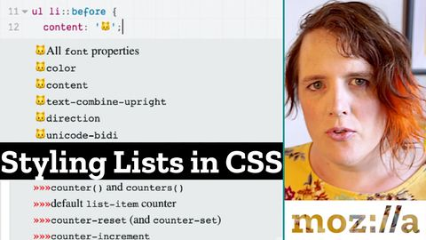 Lists styled with cat emojis