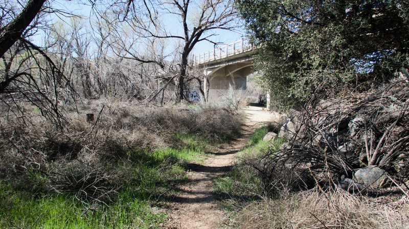 Bridge over Cottonwood Creek at Buckman Springs Road