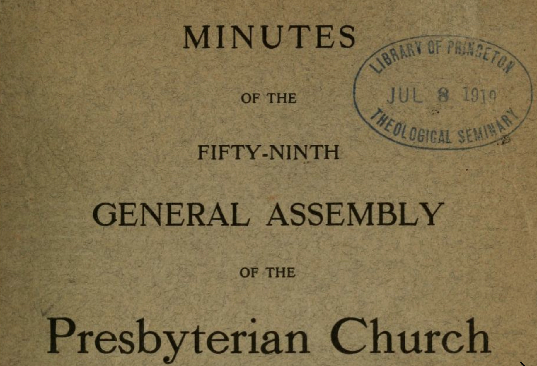 The impact of the Spanish Flu on the Southern Presbyterian Church