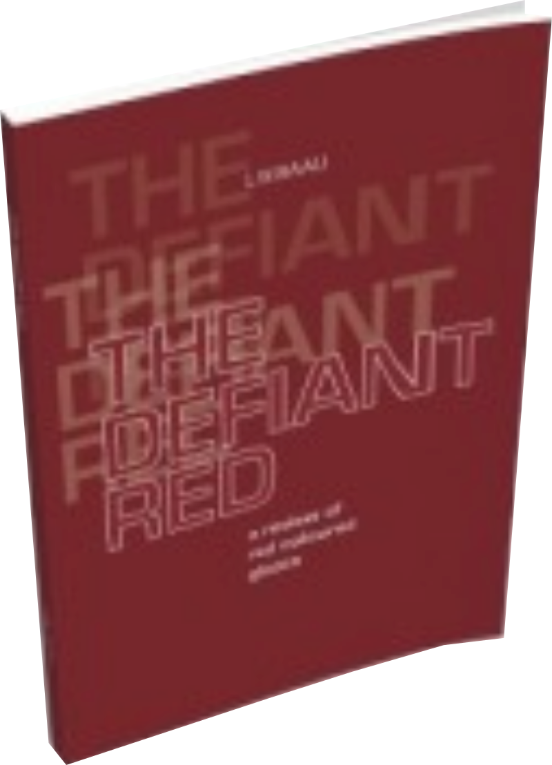 3D book cover of The Defiant Red paperback