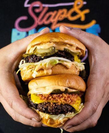Slap and Pickle burger