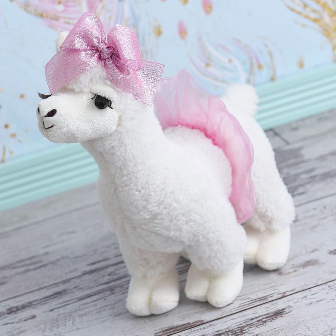 The Petting Zoo: Gotta dance because the weekends almost here! Our ballerina llamas 🦙 come with pink and purple assorted tutus and the sweetest eyelashes 💕sure to be a hit with your tiny dancer.