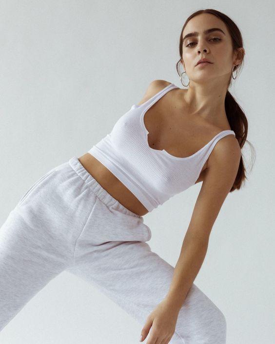 Pantalon de jogging femme avec élastique à la taille