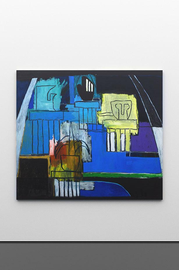 zoom: Venetian Garden, a night garden for Cézanne, 2017                oil and spray on canvas                167,5 × 190 cm