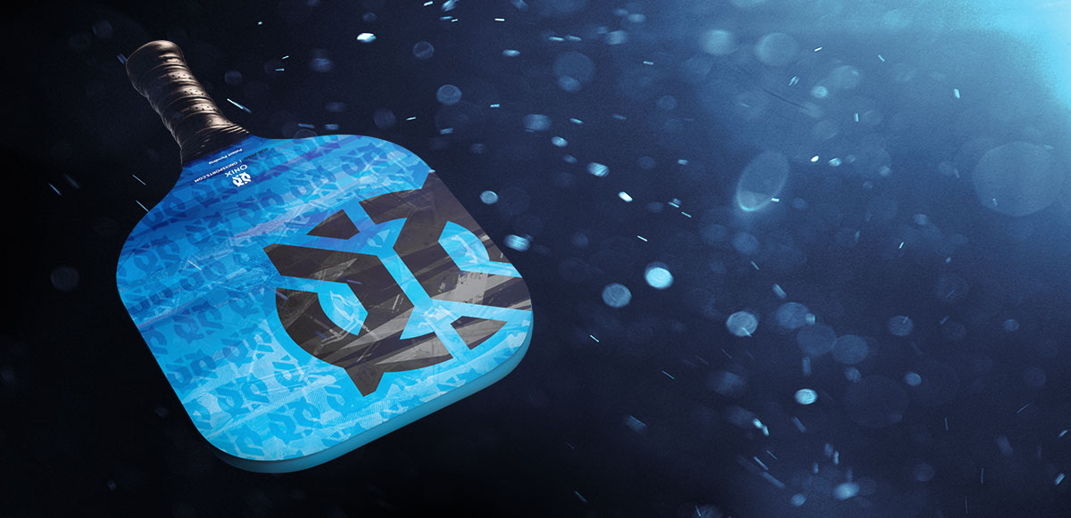 Closeup of blue Onix Sub-Zero paddle