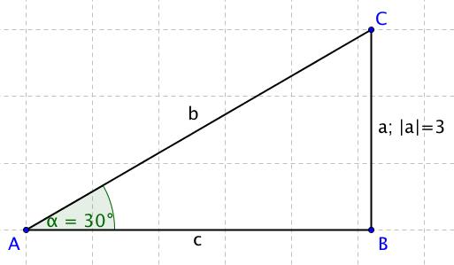Zadání příkladu: dopočítejte délku přepony