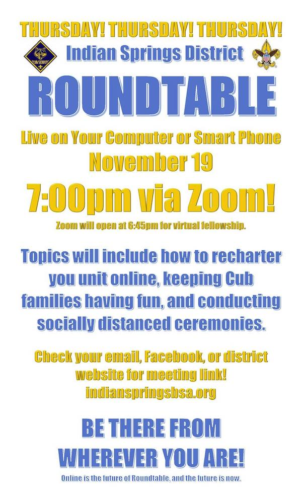November 2020 Roundtable Flier