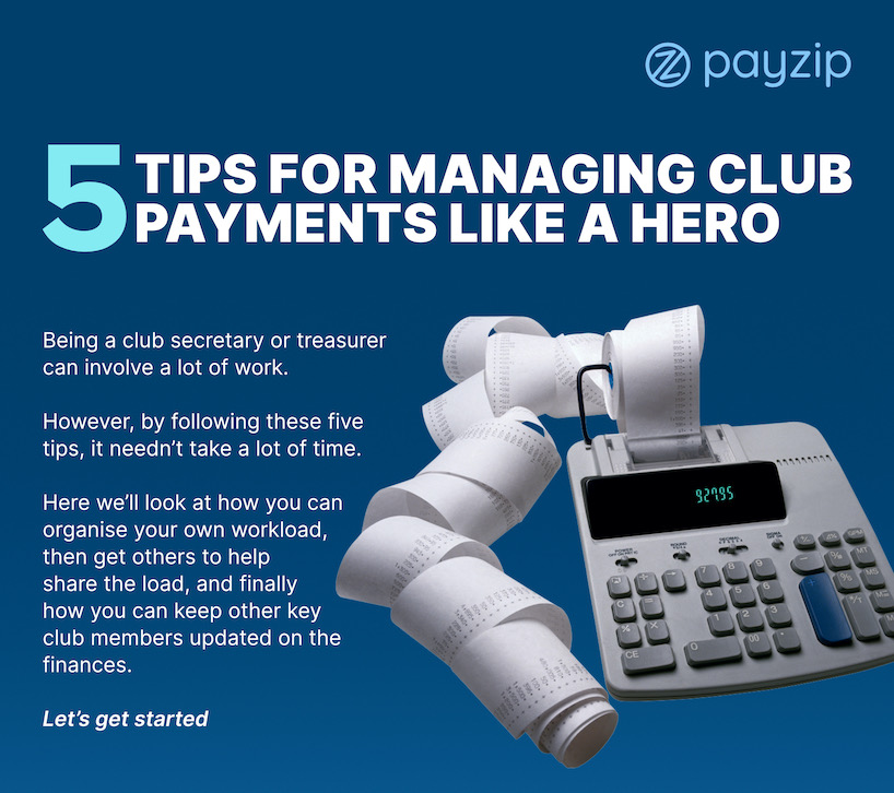 """picture of """"5 tips for for managing club payments like a hero"""" PDF download"""
