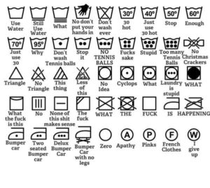 Clothes wasing labels and what they mean