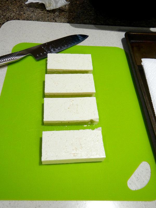 Pressing Tofu: Cutting, Step Two